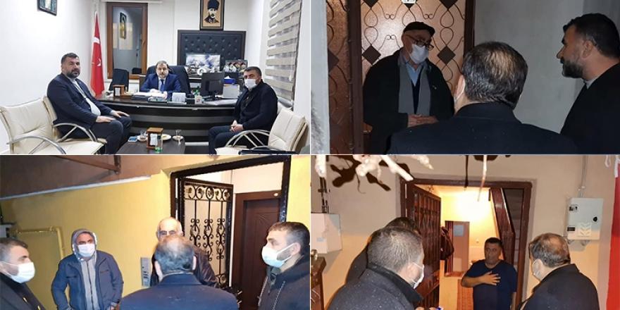 AKD Genel Başkanı Kurt'tan evi işaretlenen Alevi ailelere ziyaret