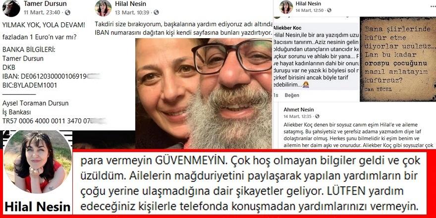 Hilal Nesin: 'İhtiyaç sahiplerinin resim ve videolarını paylaşarak halkı kandırıp kendilerine para topluyorlar'