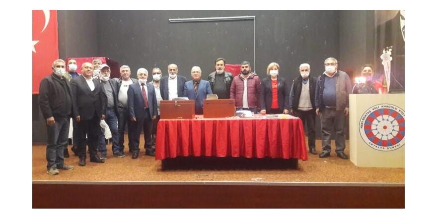 HBVAKV Antalya Şube Başkanı yeniden Nurettin Erdoğan oldu