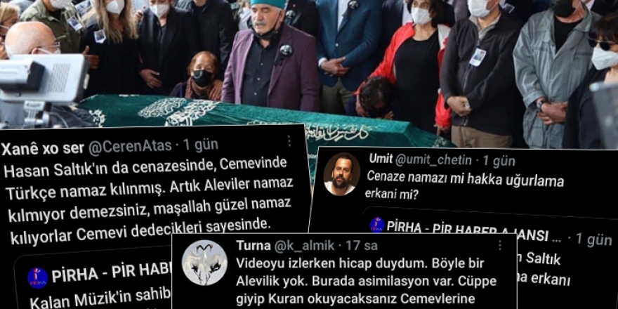 Alevi yurttaşlardan Hasan Saltık'ın uğurlama törenine tepki