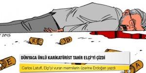 Dünyaca ünlü karikatürist Tahir Elçi'yi çizdi