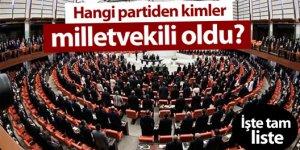 1 Kasım 2015 Milletvekili seçilenler Listesi