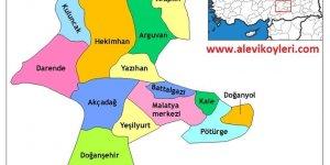 Malatya Alevi Köyleri Haritası