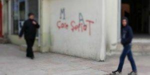 Urfa duvarlarinda 'şeriat' içerikli yazılamalar