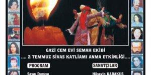 Gazi Cemevi Sivas Şehitlerini Anma Gecesi