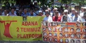 Adana'da 2 Temmuz 93 Platformu'ndan eylem...