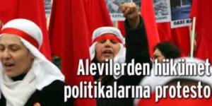 Alevilerden hükümet politikalarına protesto