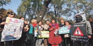 Alevi kadınlardan Üzmez protestosu