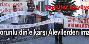 Kıbrıs Alevilerinden Gericiliğe Karşı Eylem
