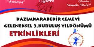 Kazım Karabekir Cem Evi Geleneksel 3.Kuruluş Yıldönümü Etkinliği