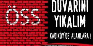 İstanbul'da 'ÖSS duvarını yıkalım' mitingi