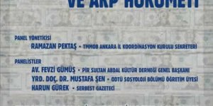 Tarikatlar, Cemaatler, Yolsuzluklar ve AKP Hükümeti Paneli