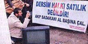Tunceli'de 'seçim rüşveti' protestosu