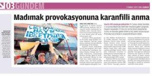 Dinci gazeteler Sivas katliamını savunmayı sürdürüyor