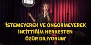 Pınar Fidan: İstemeyerek incittiğim insanlardann içtenlikle özür dilerim