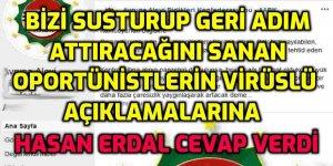 Hasan Erdal; Alevi Habere karşı bildiri yayınlayan 'gör beni göreyim senici' oportünistlere cevap verdi!