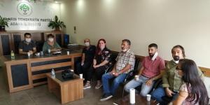 DAD Adana Şubesi'nden HDP'ye destek ziyareti