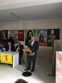 Erdal Aksoy'dan cemevine saldırıya tepki: 'Bitmedi ve öl' yazısı tekrarlanacağını gösteriyor