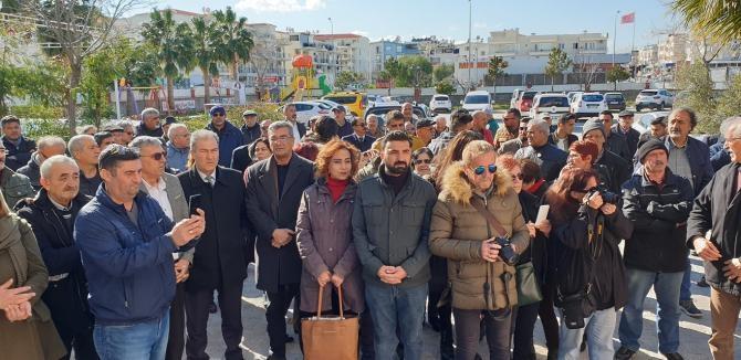 Didim'de Sultanbeyli Cemevine yapılan saldırı protesto edildi