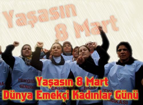 Emekçi kadınlar 8 Mart'ın 100. yılında Kadıköy'de buluşuyor!