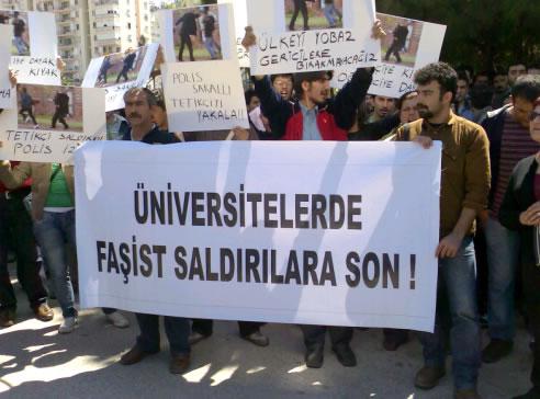Antalya'daki silahlı faşist saldırı protesto edildi
