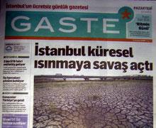Gazete dağıtıcıları ücret alacakları için eylem yaptı