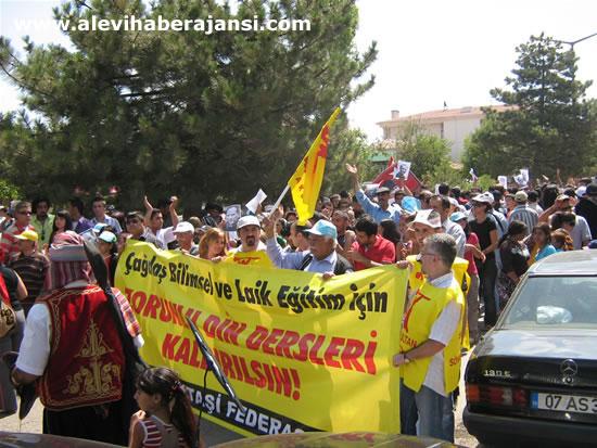 Hacıbektaş'ta protestolu açılış