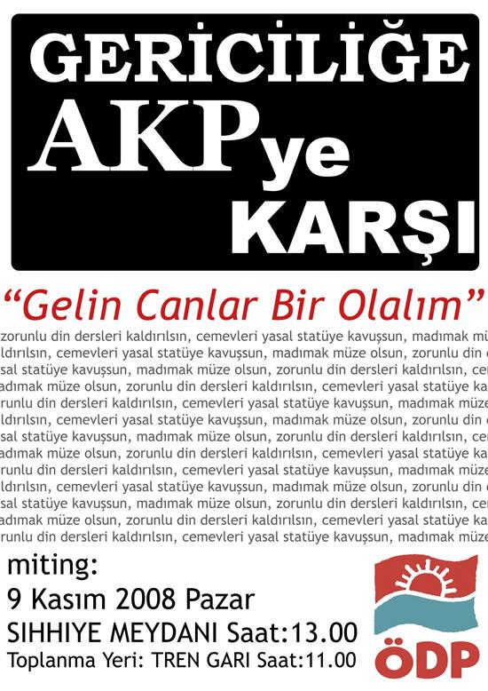Gericiliğe AKP'ye Karşı Gelin Canlar Bir Olalım