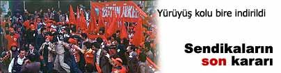 Tek koldan Taksim'e, buluşma noktası Şişli
