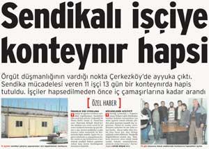 'Asi' işçiye mesai saatlerinde hapis!