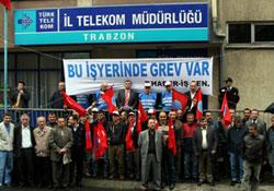 Telekom grevi provokasyonla başladı