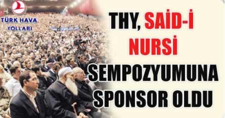 'Said-i Nursi'lerin sponsoru: THY