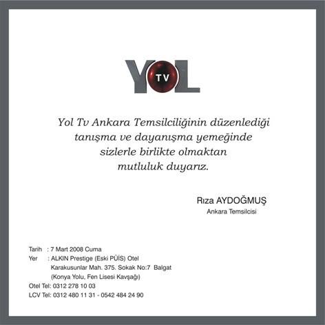 YOL TV Ankara Temsilciliği Tanışma ve Dayanışma Yemeği